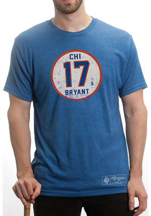 Kris Bryant Chicago Cubs Mens Blue Circle Player Tee
