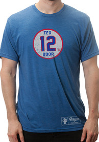 Rougned Odor Blue Circle Player Tee
