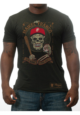 Maikel Franco Philadelphia Phillies Mens Grey Day of the Dead Player Tee