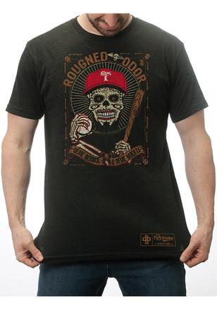 Rougned Odor Texas Rangers Mens Grey Day of the Dead Player Tee