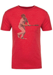 Paul DeJong Red Spelled Out Fashion Player Tee