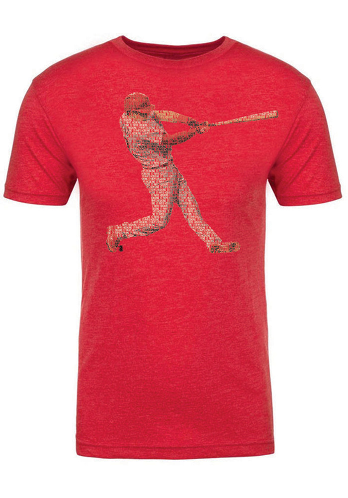 Rhys Hoskins Red Spelled Out Fashion Player Tee - Image 1