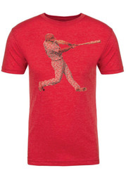 Rhys Hoskins Red Spelled Out Fashion Player Tee