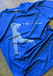 Ian Happ Blue Spelled Out Fashion Player Tee