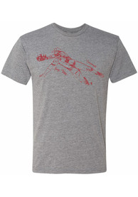 Joey Votto Cincinnati Reds 108 Stitches Sketch Fashion T Shirt - Grey