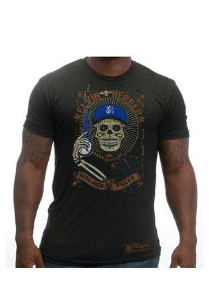 Kelvin Herrera KC Royals Mens Black Day of the Dead Fashion Player Tee