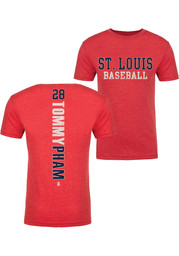 Tommy Pham St Louis Red Razorback Fashion Player Tee