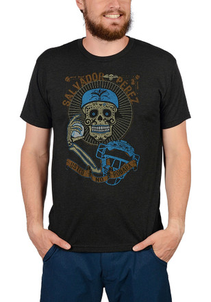 Salvador Perez Kansas City Royals Mens Grey Day of the Dead Player Tee