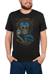 Salvador Perez Kansas City Charcoal Day of the Dead Fashion Player Tee