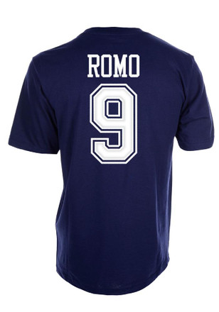 Tony Romo Dallas Cowboys Apparel Dallas Cowboys Youth Name and Number Navy Blue Player Tee