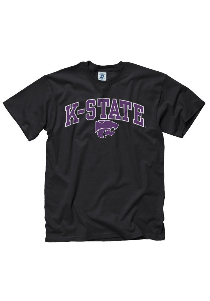 K-State Wildcats Youth Black Classic Arch Short Sleeve T-Shirt - Image 1