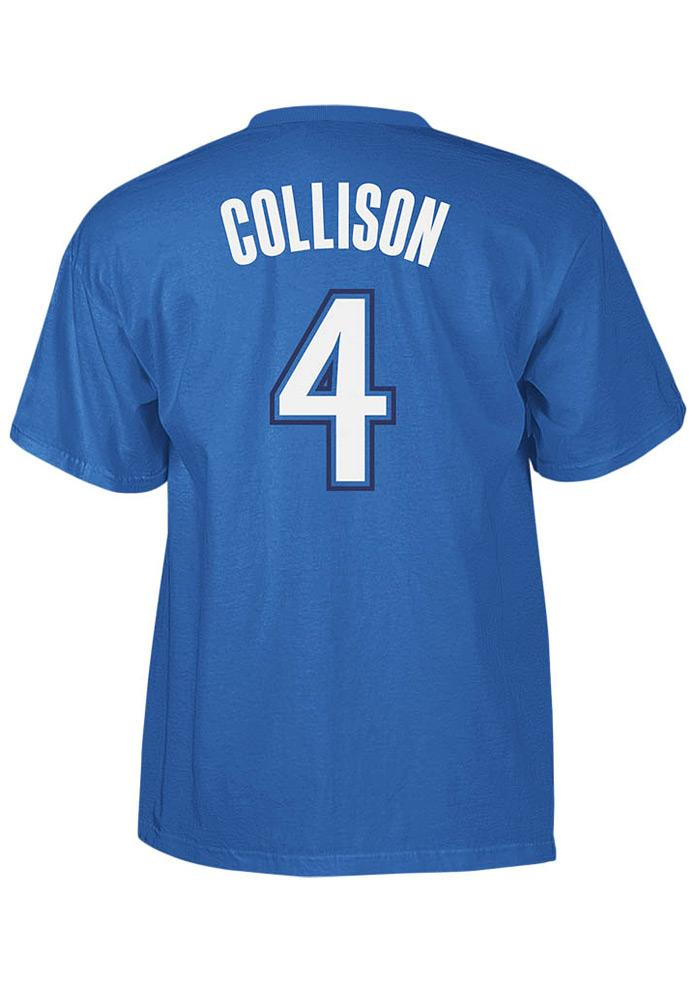 Nick Collison Oklahoma City Thunder Mens Blue Player Short Sleeve Player T Shirt - Image 1