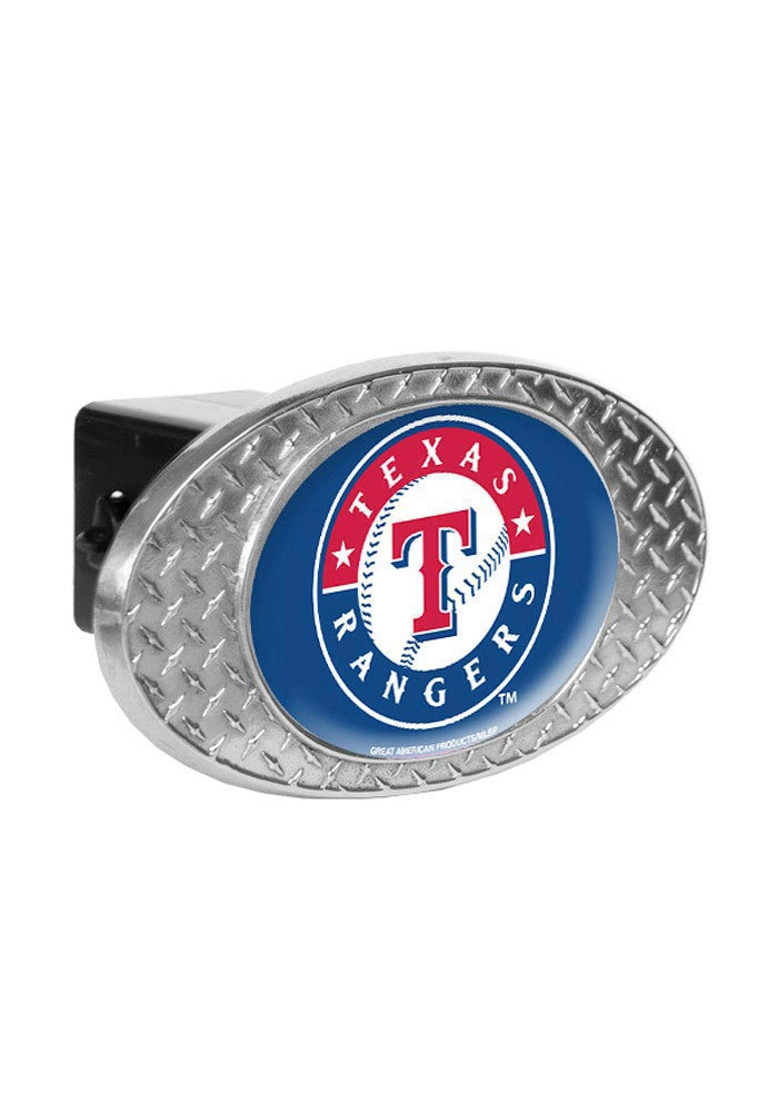 Texas Rangers Diamond Plate Car Accessory Hitch Cover - Image 1