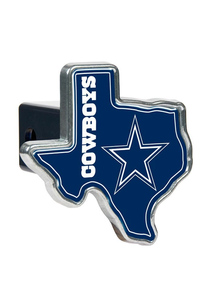 Dallas Cowboys Texas Shaped Car Accessory Hitch Cover - Image 1