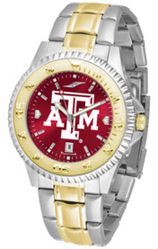 Texas A&M Aggies Competitor 2 Tone Watch - Silver