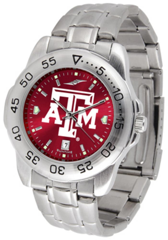 Texas A&M Aggies Steel Anochrome Watch - Silver