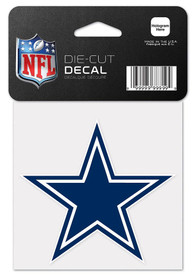 Dallas Cowboys 4x4 Perfect Cut Auto Decal - Navy Blue