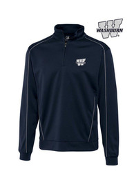 Washburn Ichabods Cutter and Buck DryTec Edge 1/4 Zip Pullover - Navy Blue