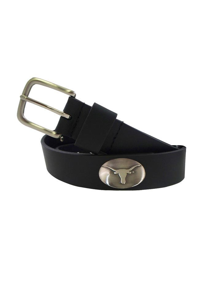 Texas Longhorns Black Leather Mens Belt - Image 1