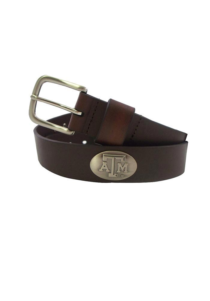 Texas A&M Aggies Brown Leather Mens Belt - Image 1