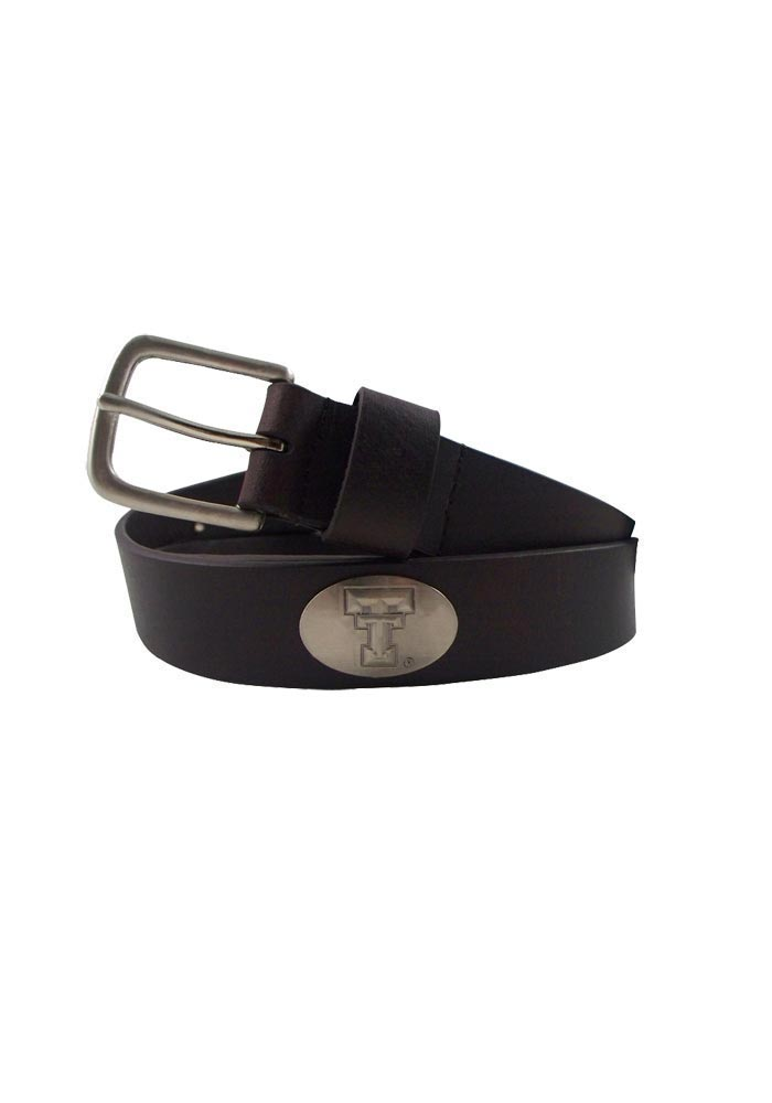 Texas Tech Red Raiders Brown Leather Mens Belt - Image 1