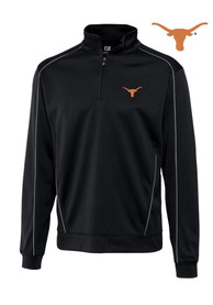 Texas Longhorns Cutter and Buck DryTec Edge 1/4 Zip Pullover - Black
