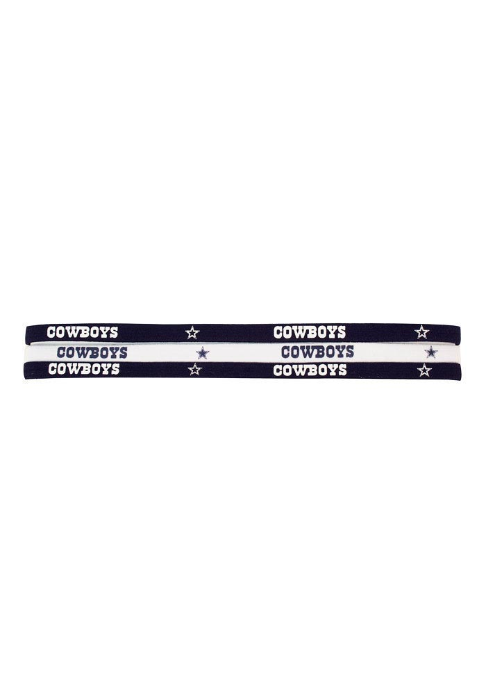 Dallas Cowboys 3 Pack Elastic Womens Headband - Image 1