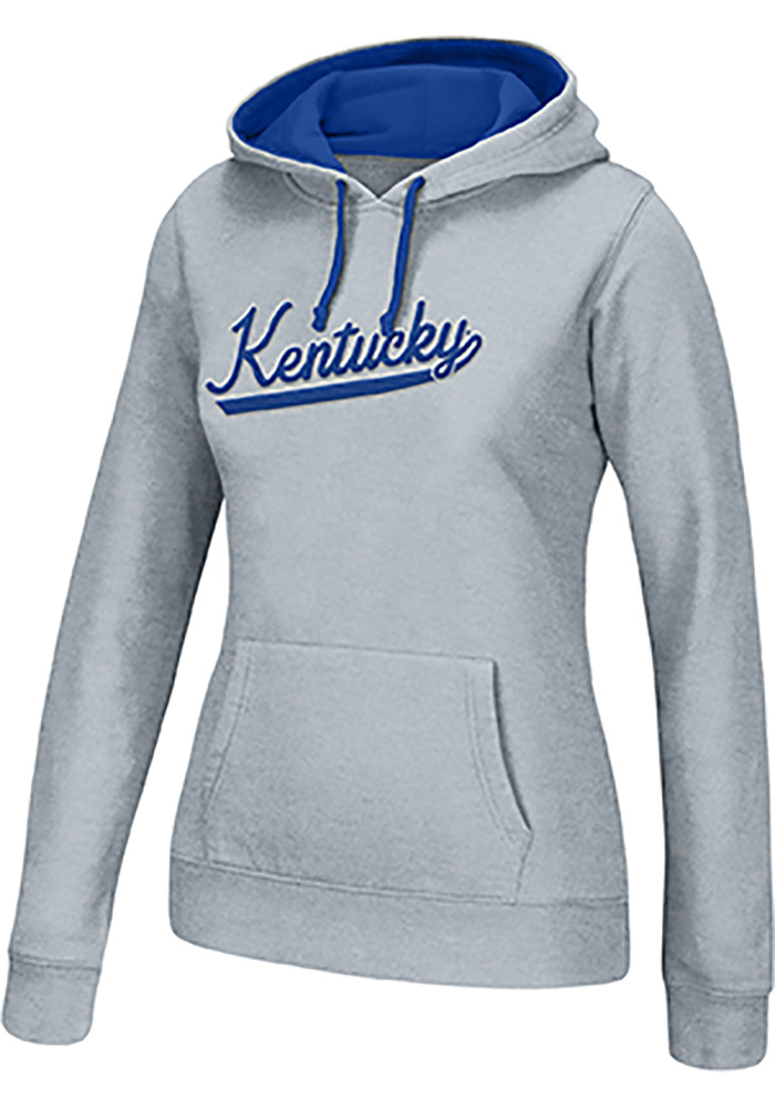 Top of the World Kentucky Wildcats Womens Grey Essential Chenille Hooded Sweatshirt - Image 1