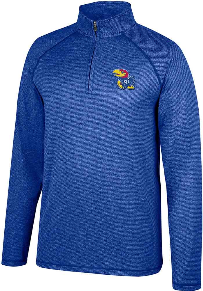 Kansas Jayhawks Top of the World Lux 1/4 Zip Pullover - Blue