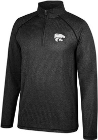 K-State Wildcats Top of the World Lux 1/4 Zip Pullover - Black