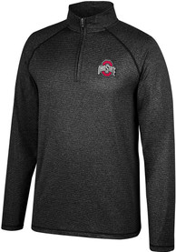 Ohio State Buckeyes Top of the World Lux 1/4 Zip Pullover - Black