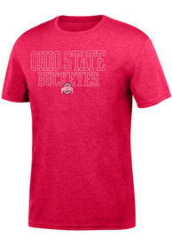 Top of the World Ohio State Buckeyes Red Heathered Chrome Tee