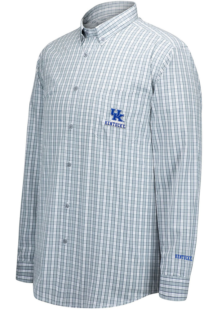 Top of the World Kentucky Wildcats Mens Grey No Excuses Long Sleeve Dress Shirt - Image 1