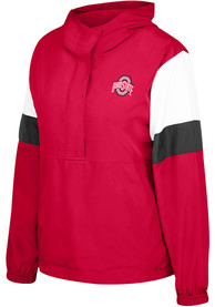 Ohio State Buckeyes Womens Top of the World Dynamite Windbreaker Light Weight Jacket - Red