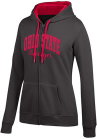 Ohio State Buckeyes Womens Top of the World Essential Applique Full Zip Jacket - Black
