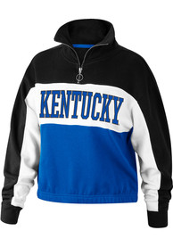 Top of the World Kentucky Wildcats Womens Go For It Black 1/4 Zip Pullover