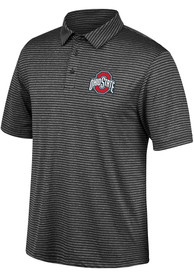 Ohio State Buckeyes Top of the World Primary Logo Polo Shirt - Charcoal