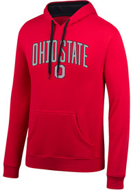 Ohio State Buckeyes Top of the World Arch Mascot Hooded Sweatshirt - Red
