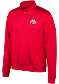 Ohio State Buckeyes Top of the World Primary Logo 1/4 Zip Pullover - Red