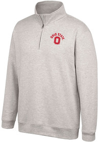 Ohio State Buckeyes Top of the World Alt Logo 1/4 Zip Pullover - Oatmeal