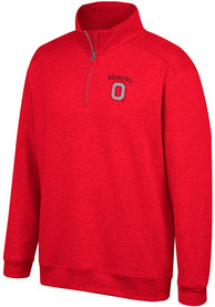 Ohio State Buckeyes Top of the World Alt Logo 1/4 Zip Pullover - Red
