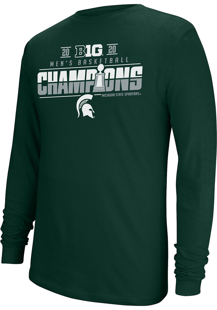 Top of the World Michigan State Spartans Green Big 10 Champions Locker Room Long Sleeve T Shirt - Image 1