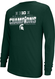 Michigan State Spartans Top of the World Big 10 Champions Locker Room T Shirt - Green