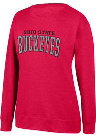 Ohio State Buckeyes Womens Top of the World Essential Crew Sweatshirt - Red