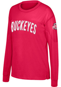 Ohio State Buckeyes Womens Top of the World Oversized T-Shirt - Red
