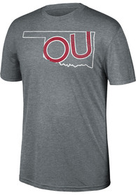 Oklahoma Sooners Top of the World Heritage Fashion T Shirt - Grey