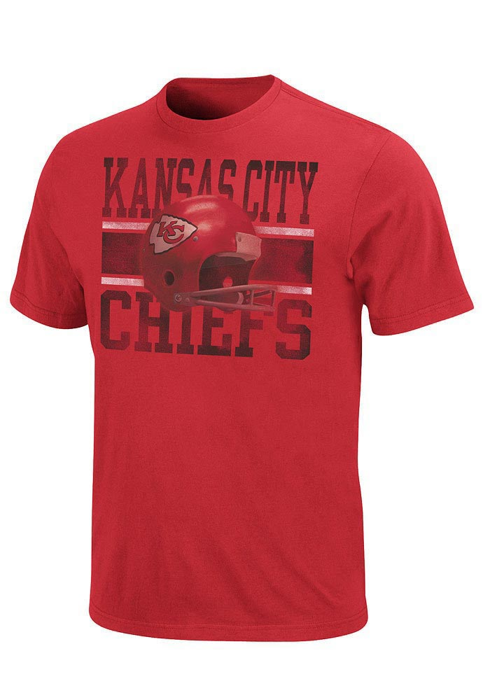 Majestic Kansas City Chiefs Red Vintage Rooster III Short Sleeve T Shirt - Image 1