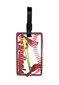 St Louis Cardinals Rubber Luggage Tag - White