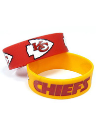 Kansas City Chiefs Kids 2pk Bulky Bands Bracelet - Red