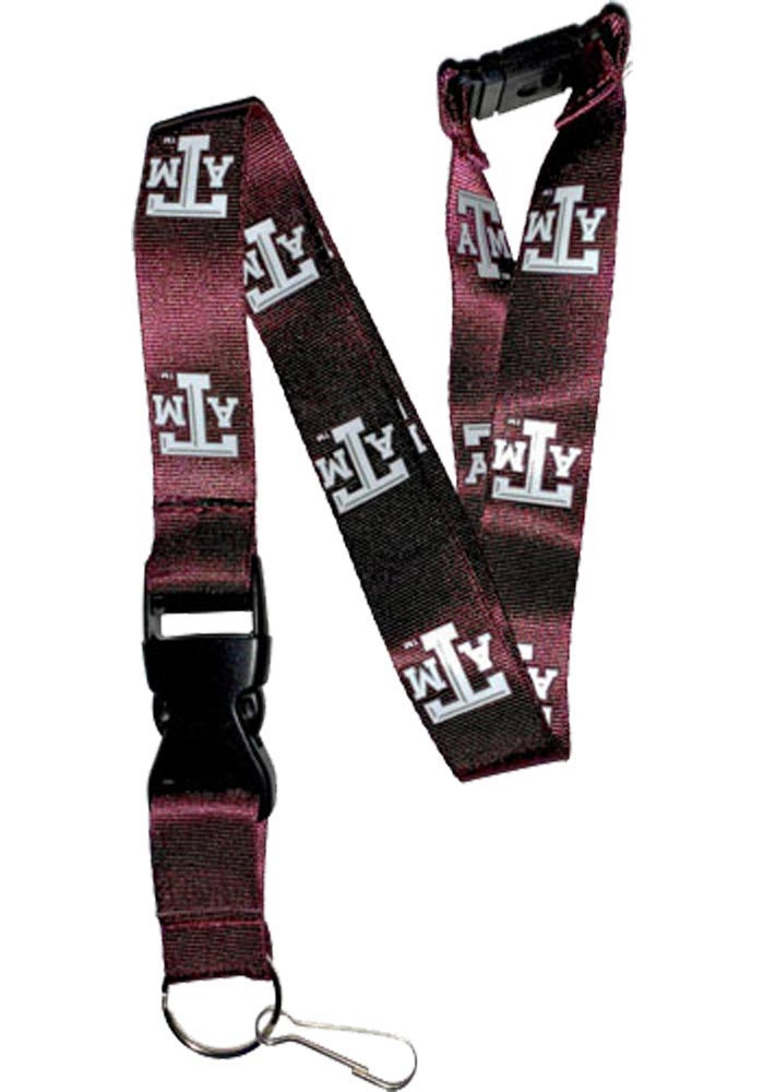 Texas A&M Aggies Maroon Buckle Lanyard
